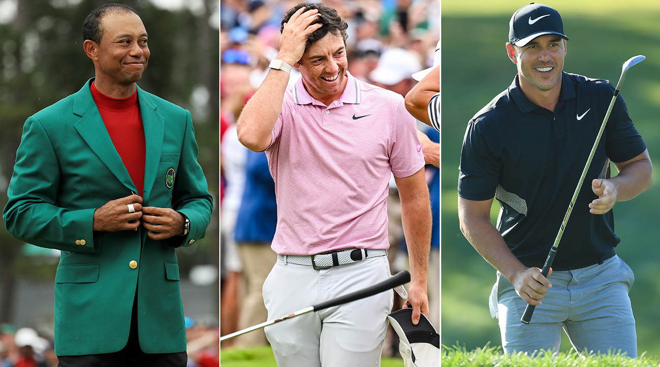 Tiger Woods, Rory McIlroy and Brooks Koepka