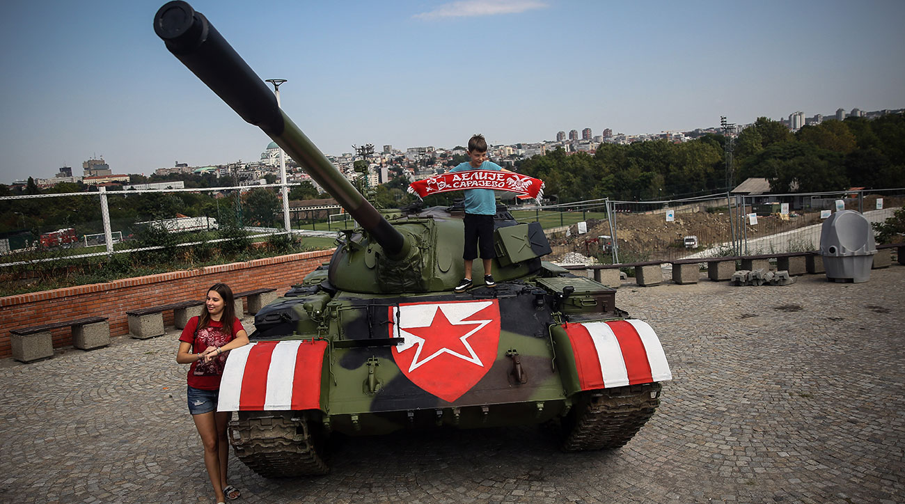 Red Star Belgrade fans have taken things to another level