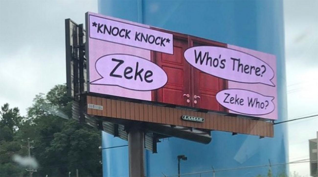 Zeke Who billboards in Philadelphia