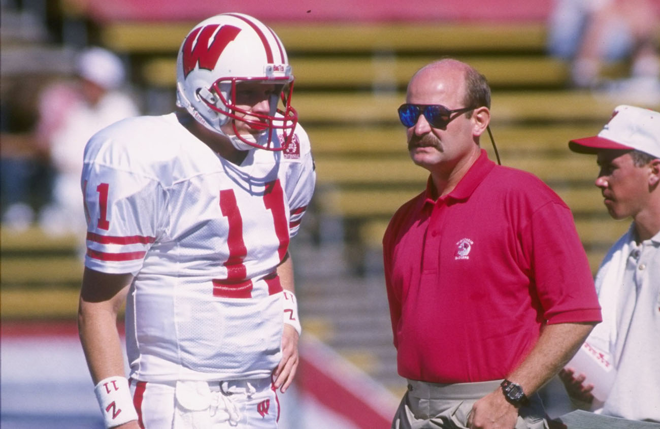 Darrell Bevell and Brad Childress at Wisconsin