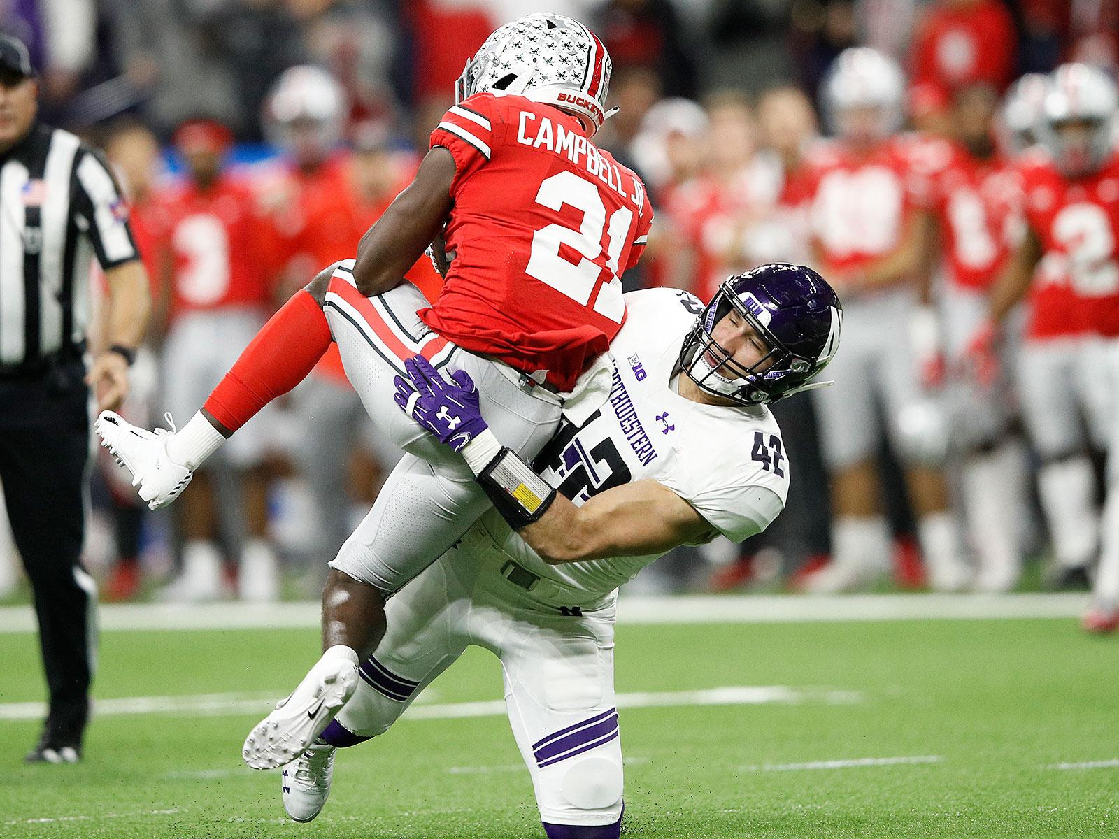 Northwestern football Paddy Fisher vs Ohio State