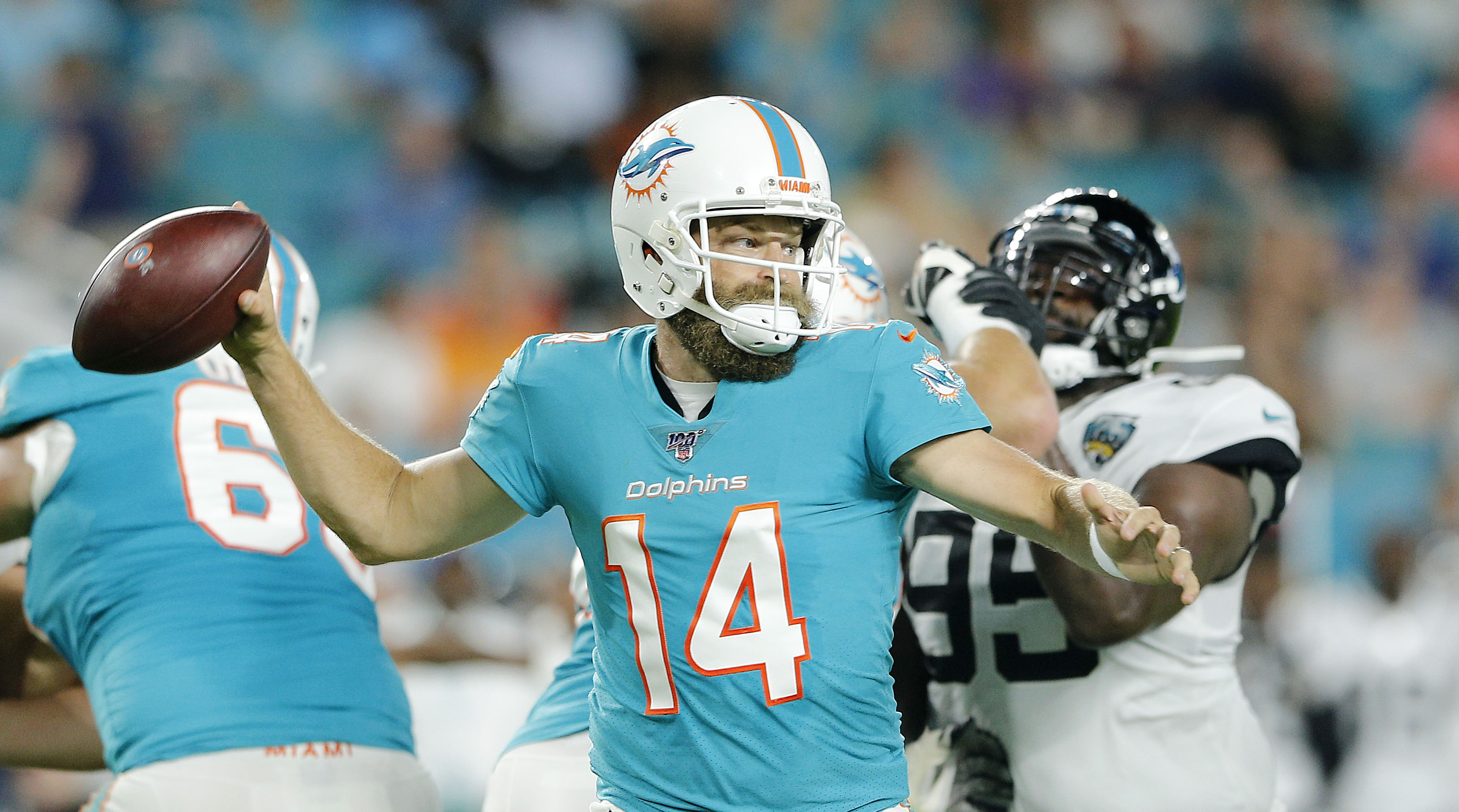 first rate 975ba 11c7f Dolphins QB: Ryan Fitzpatrick named starter by coach Brian ...
