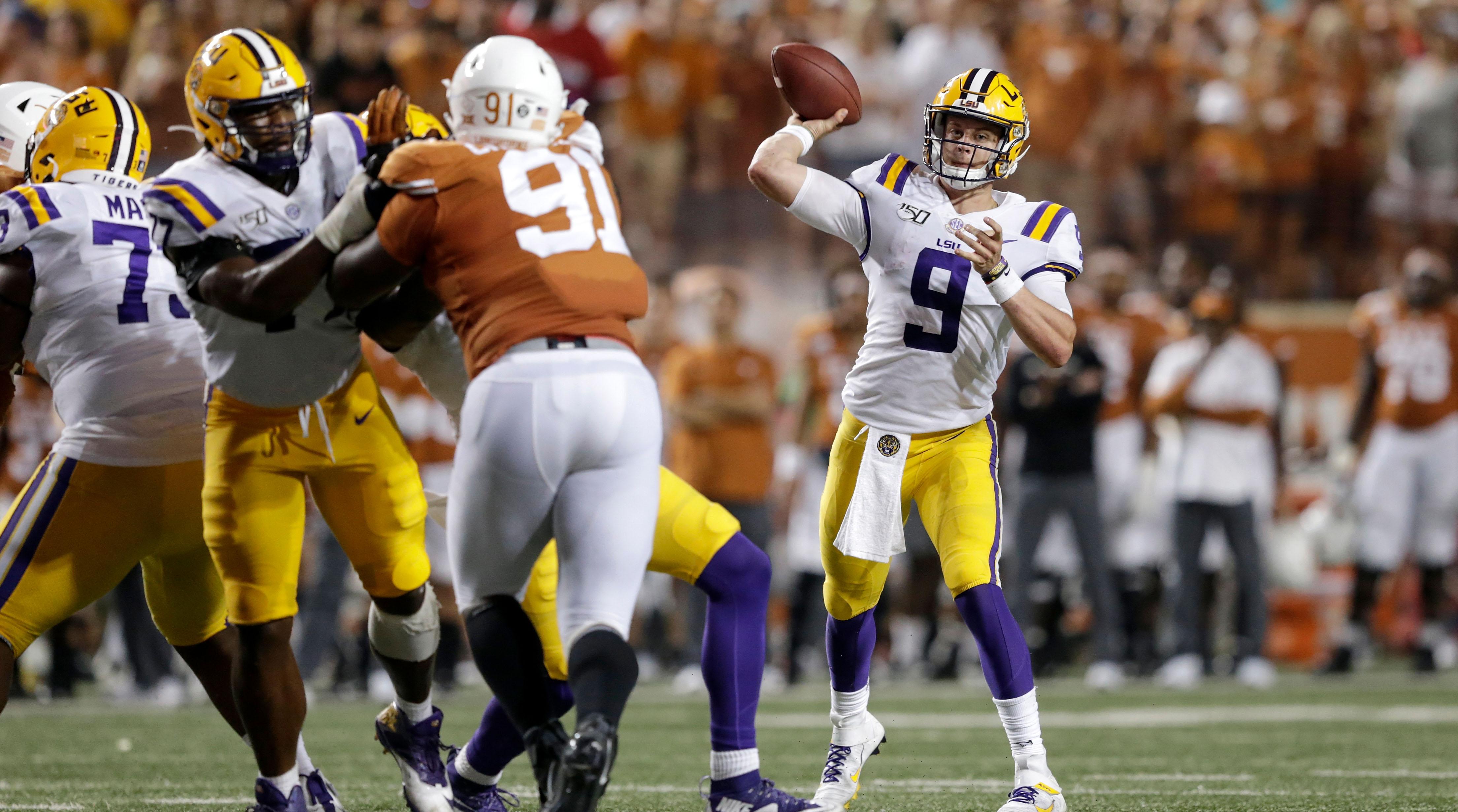 LSU QB Joe Burrow vs. Texas