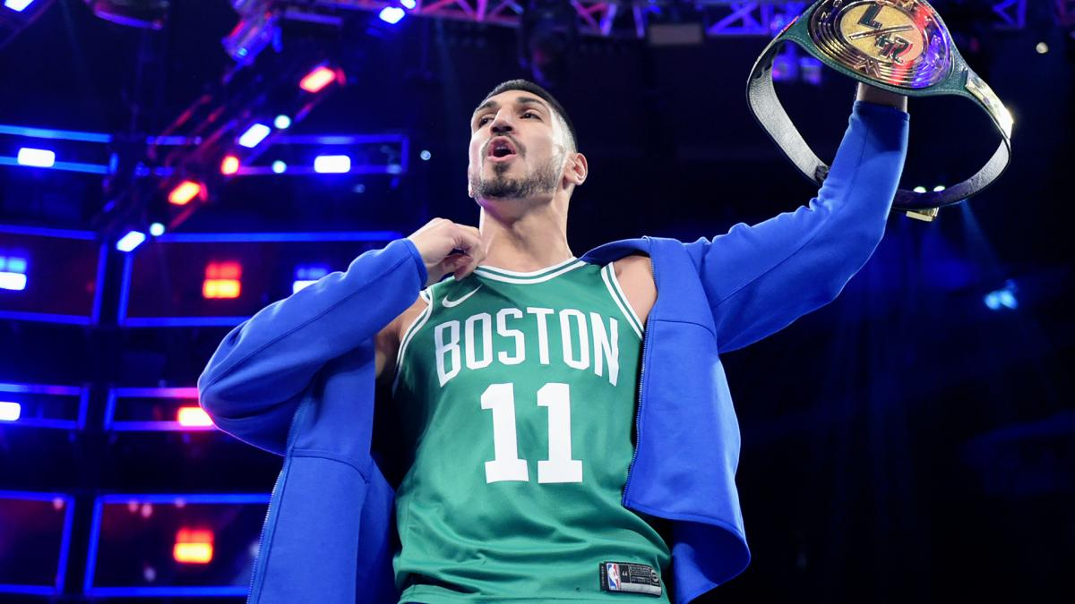 Celtics' Enes Kanter wins WWE 24/7 Championship at MSG (video)