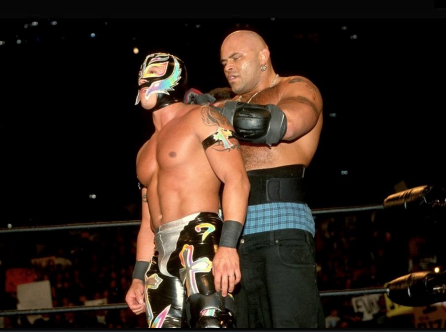 Konnan and Rey Mysterio in WCW.