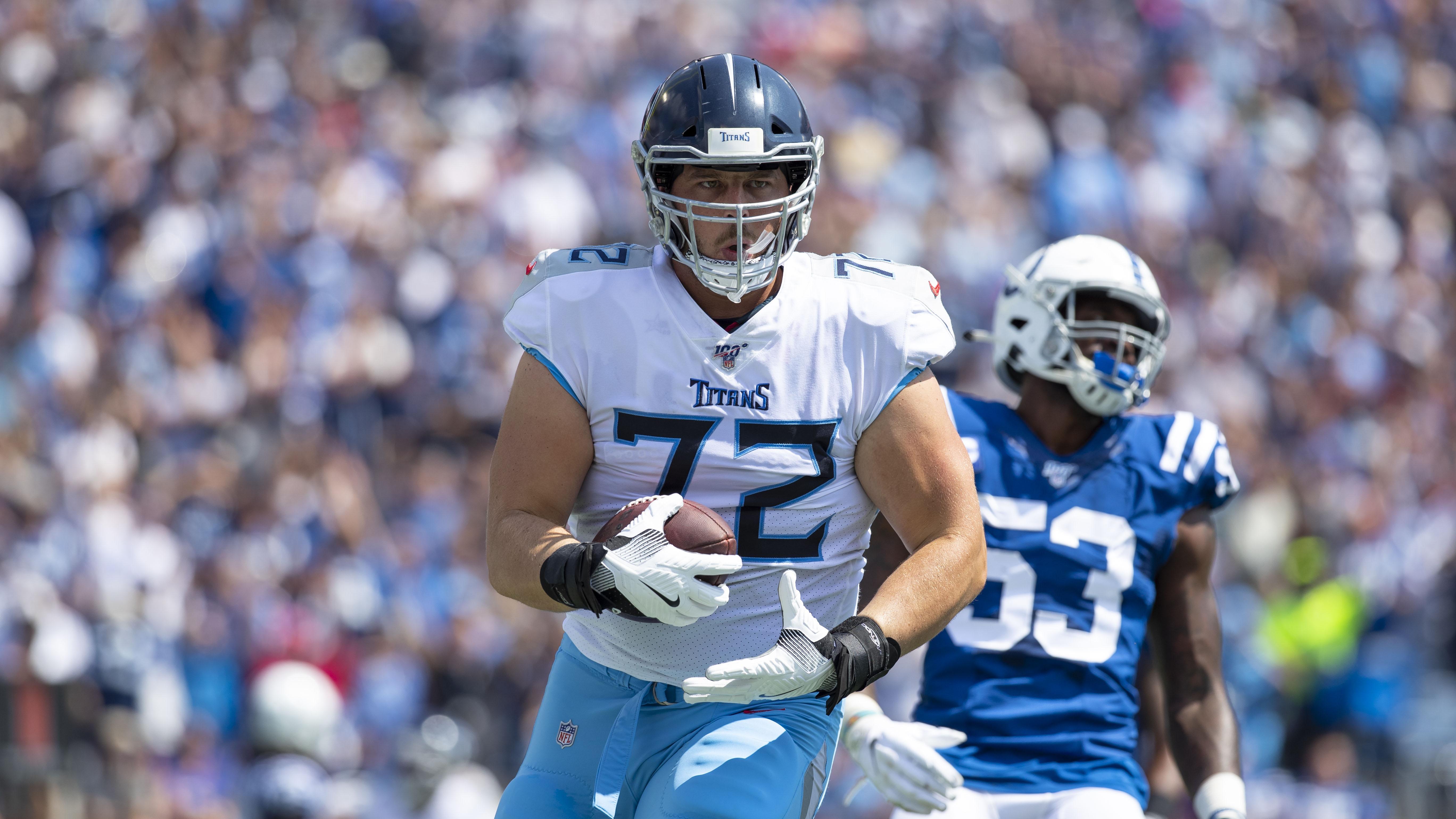 David Quessenberry: Cancer survivor, Titans OL scores touchdown (video)