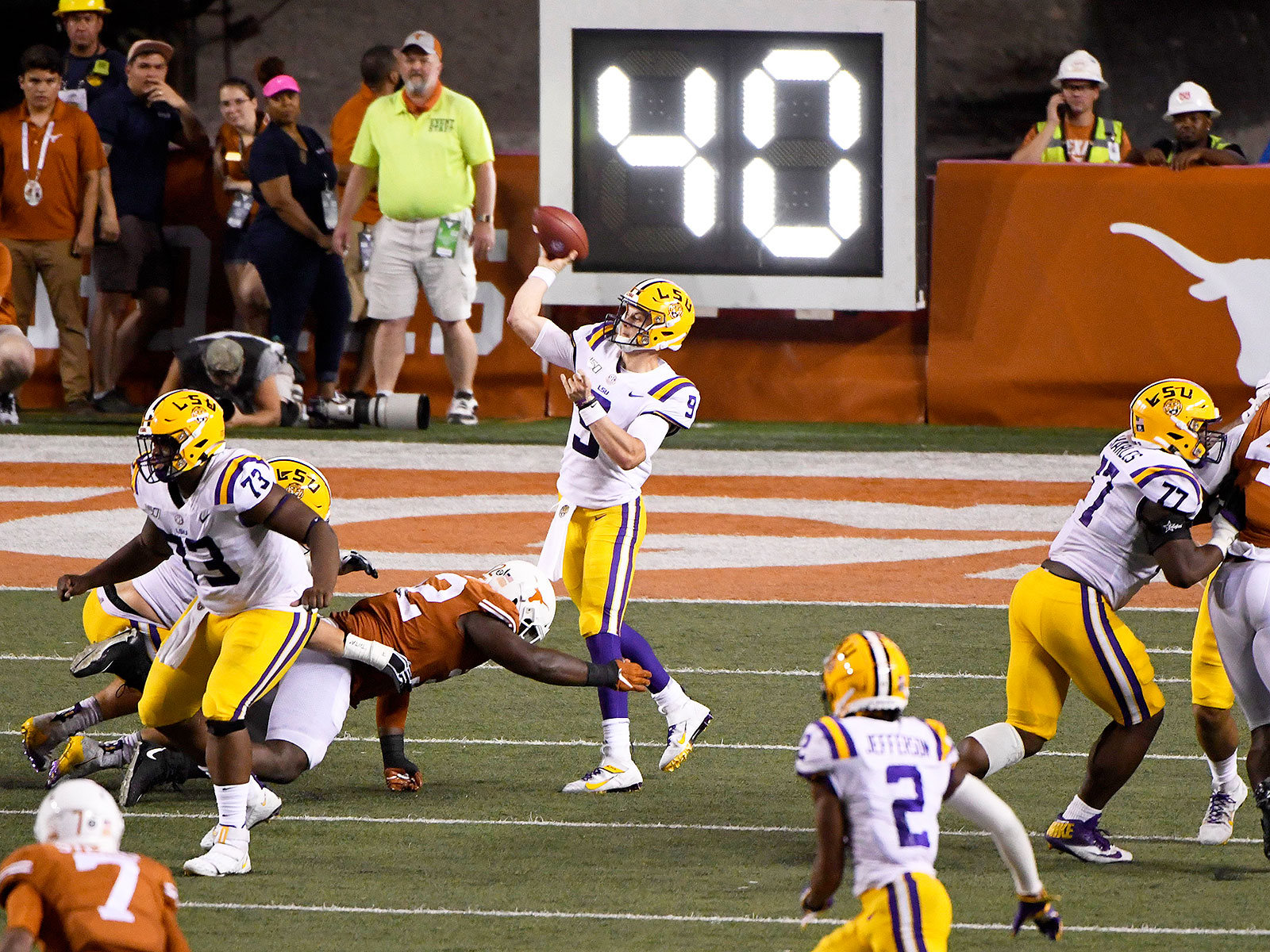 LSU vs Texas football Joe Burrow spread offense