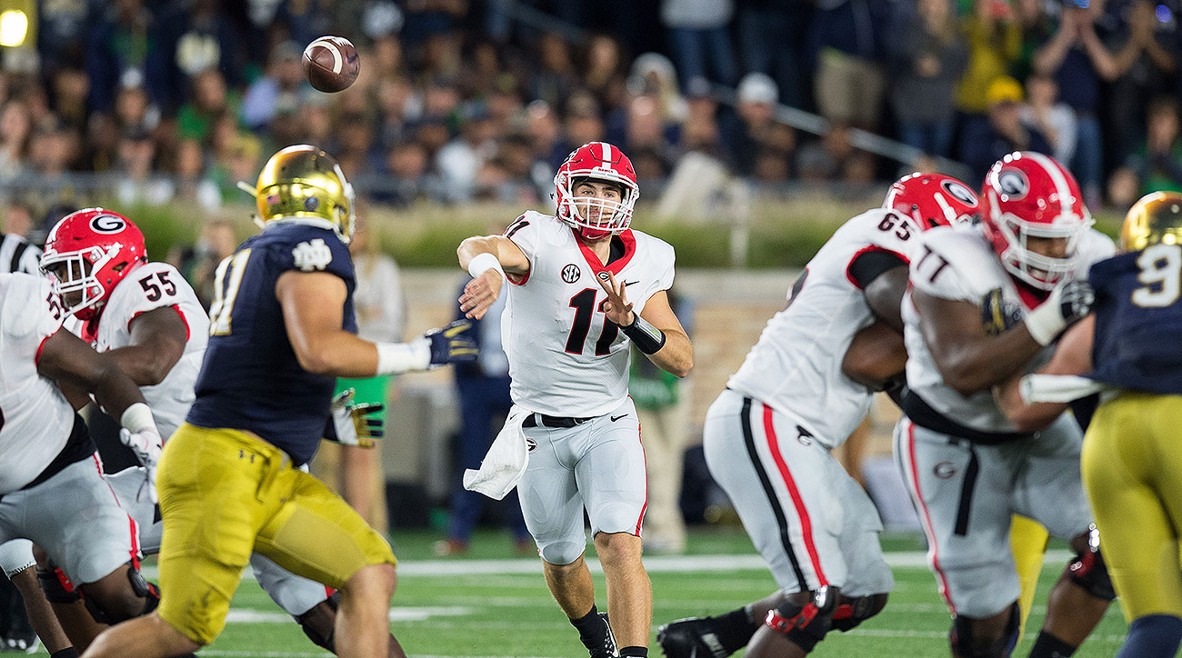 Georgia Notre Dame football 2017 Jake Fromm 2019