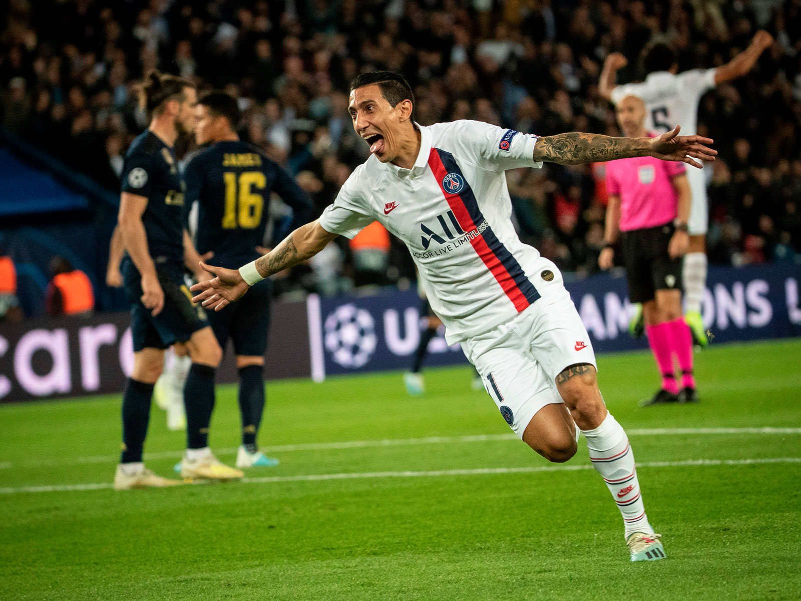 Angel Di Maria scores for PSG vs. Real Madrid