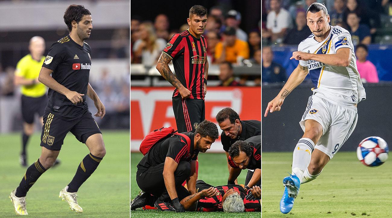 Carlos Vela, Josef Martinez and Zlatan Ibrahimovic are MLS's top three scorers