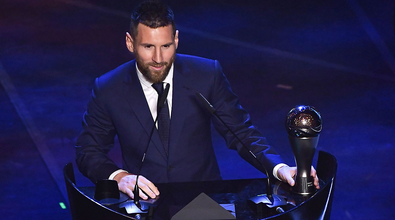 Lionel Messi wins a record sixth FIFA player of the year