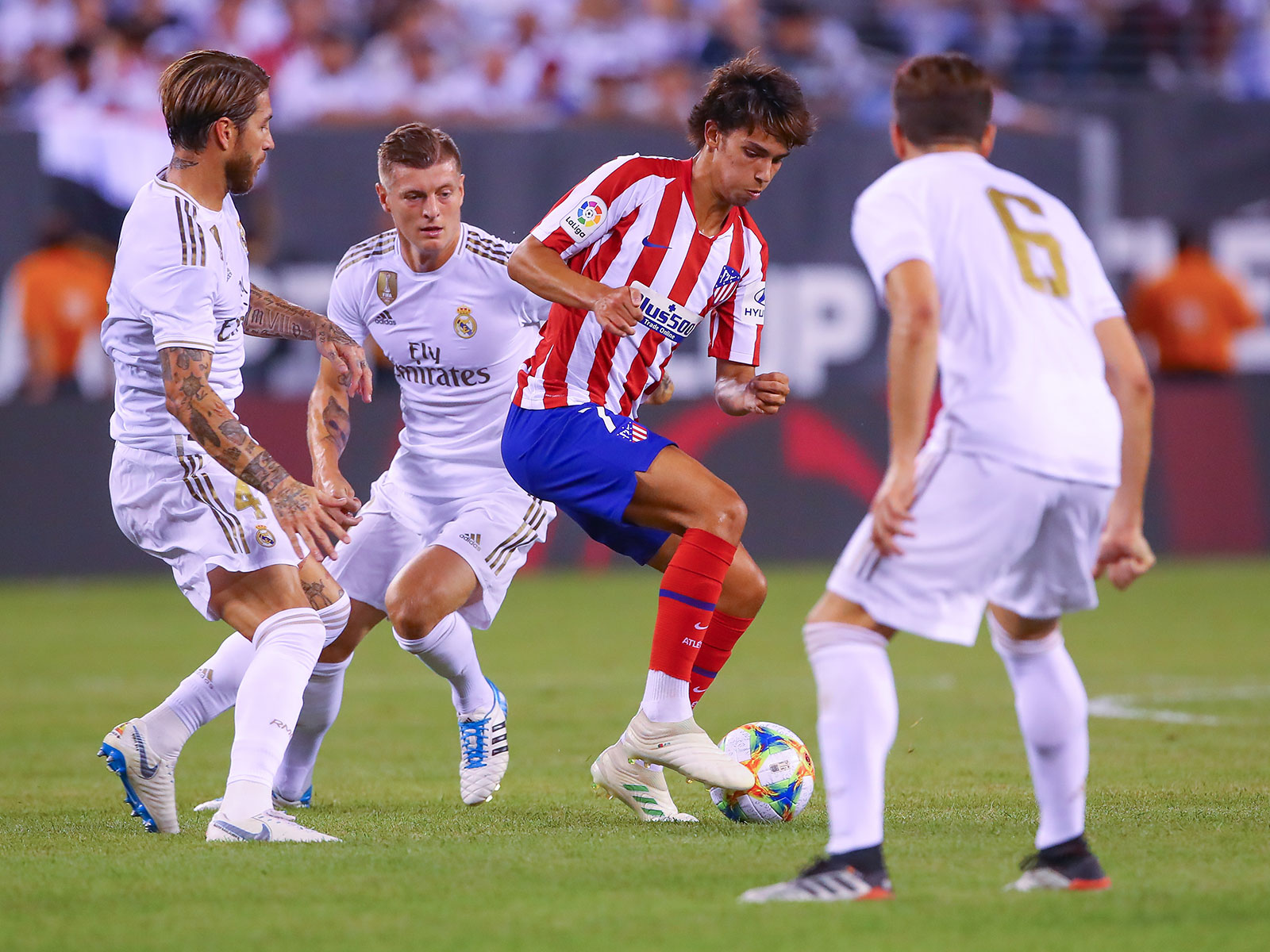 Joao Felix takes on Real Madrid