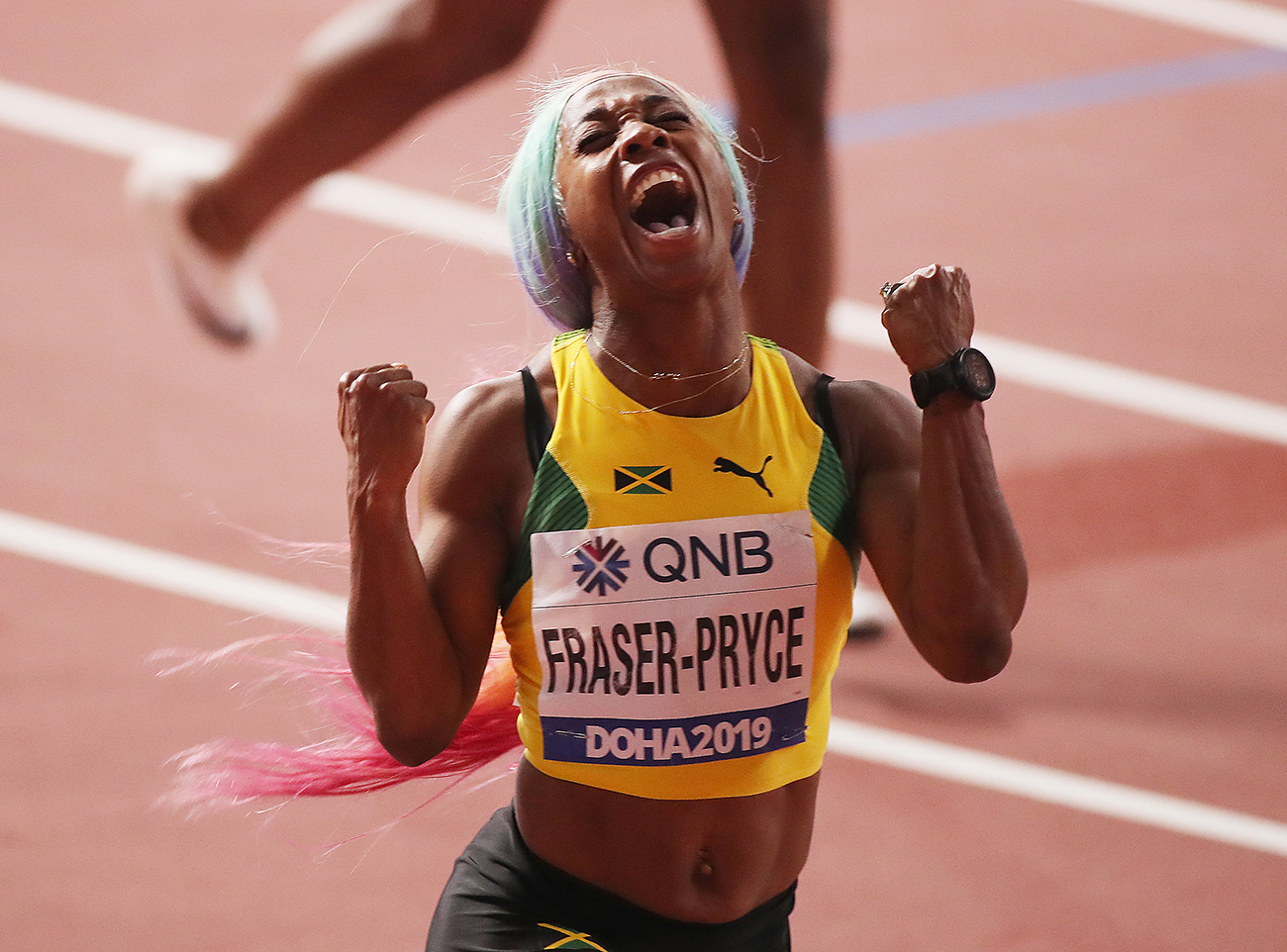 Shelly-Ann Fraser-Pryce, Asher-Smith, 2019 World Championship, wire, track and field