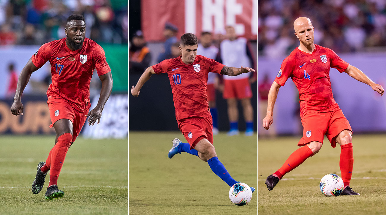 Jozy Altidore, Christian Pulisic and Michael Bradley of the U.S. men's national team