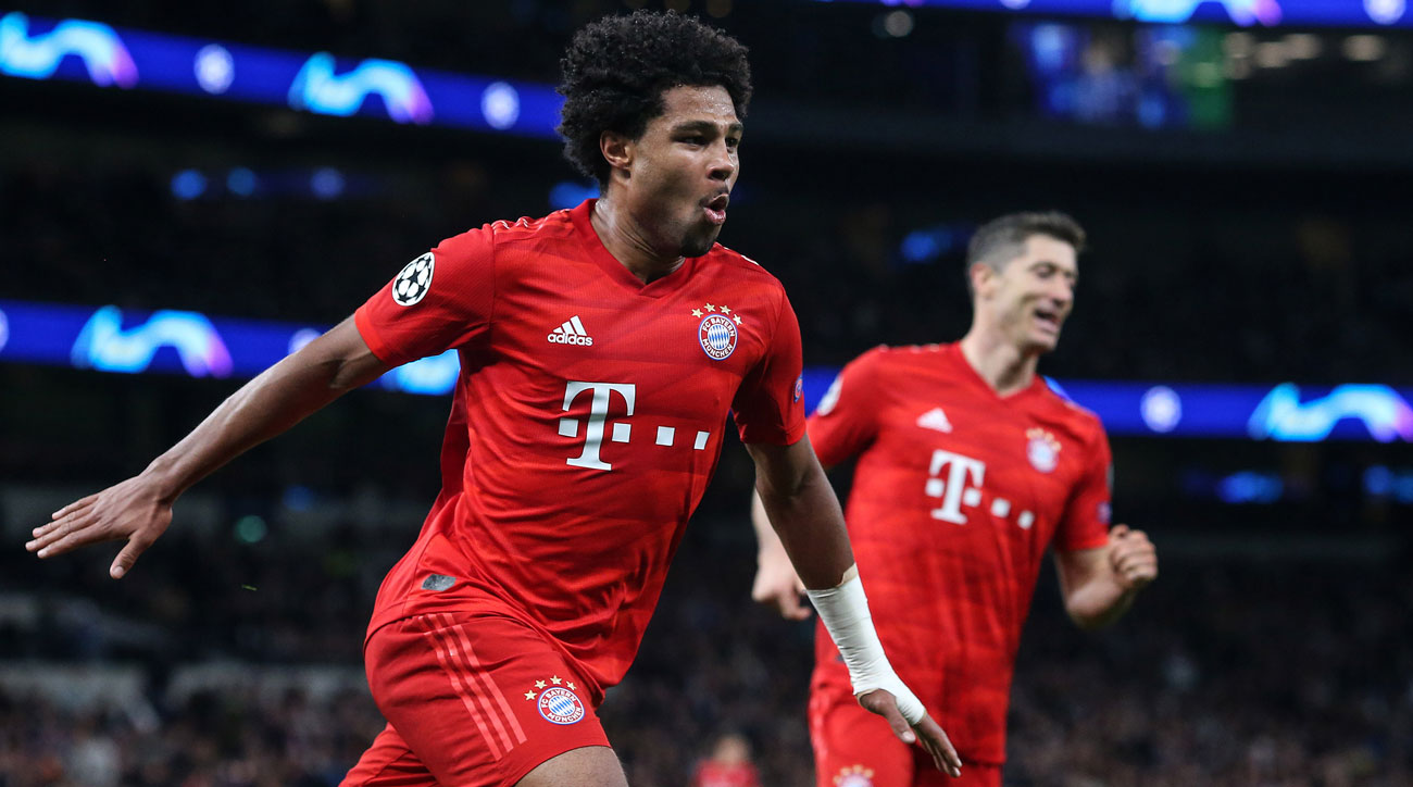 Serge Gnabry scores for Bayern Munich vs. Tottenham