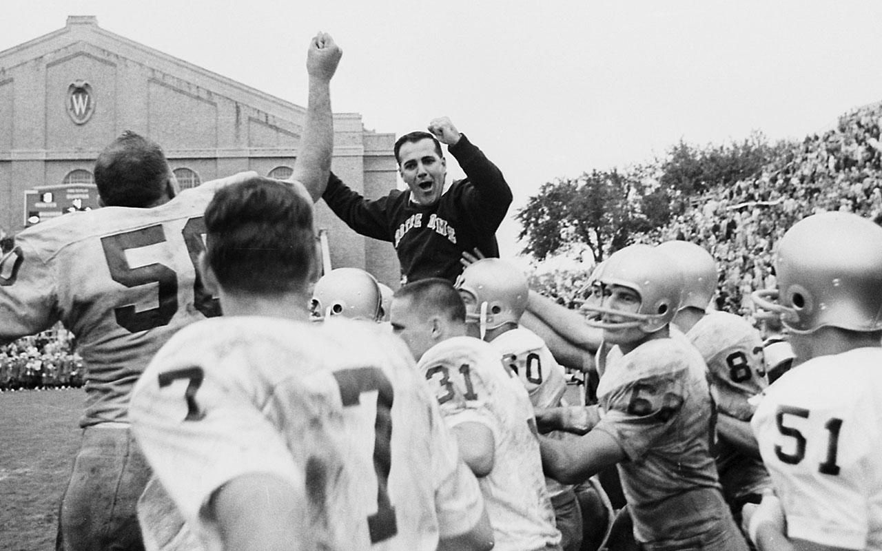 14e9ff3d505 Ara Parseghian returned Notre Dame football to power in 1964 | Vault