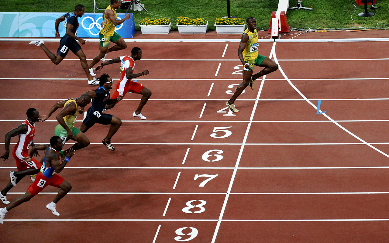 d2c281415ebf Faster Than Fast. Usain Bolt won the 100 meters in world-record time ...