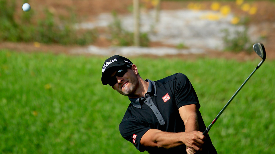 Adam Scott during the first round at Bay Hill.