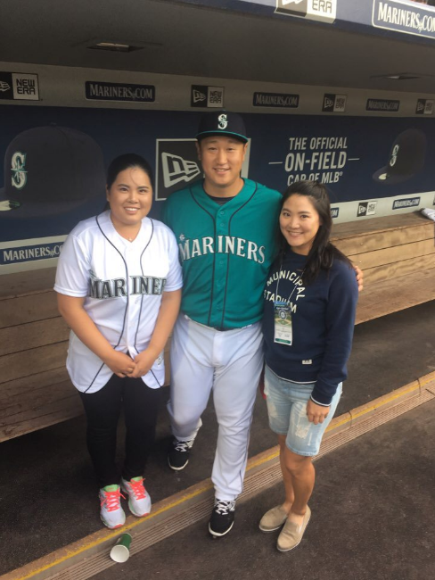 Exciting first pitch @Mariners game! Also enjoyed being in @SahaleeGolfClub for @KPMGWomensPGA!