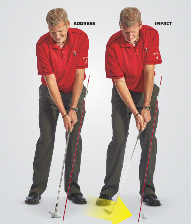 The secret to crisp chips: controlling the shaft of your wedge, not the clubface.