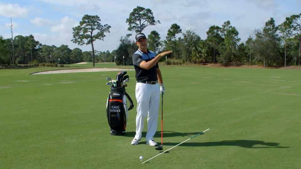 Top 100 Teacher Claude Harmon III demonstrates how to stop hitting pop-ups off the tee.