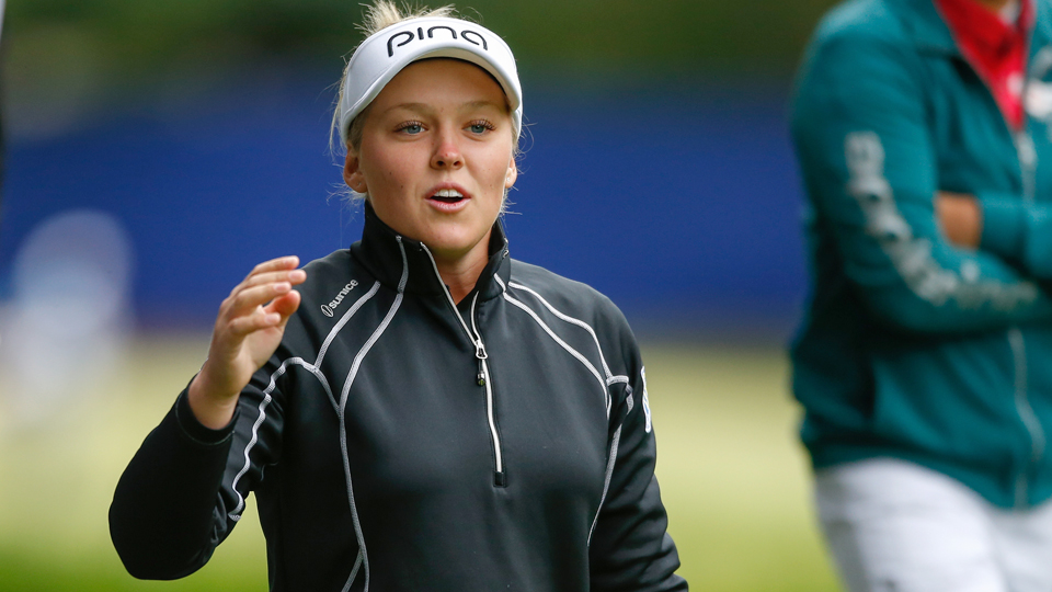 An ace during the first round of the KPMG Women's PGA Championship won Brooke Henderson a car.