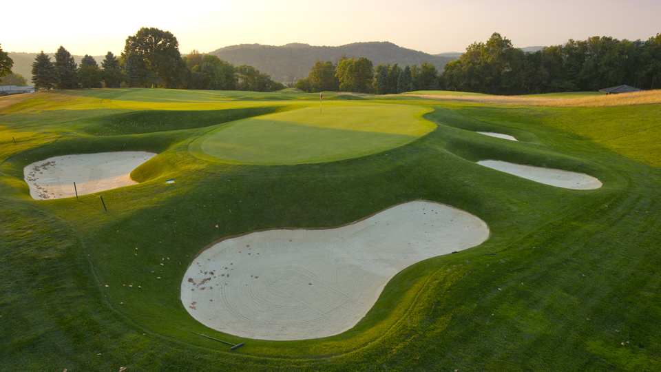 The par-4 17th isn't long, but it will test any player's course-management skills.