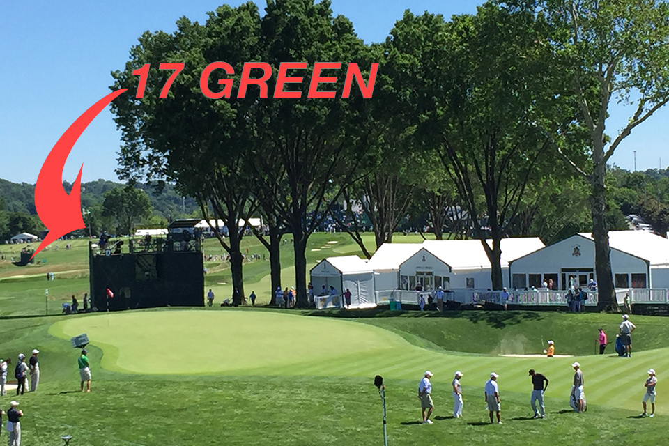 The 17th green.