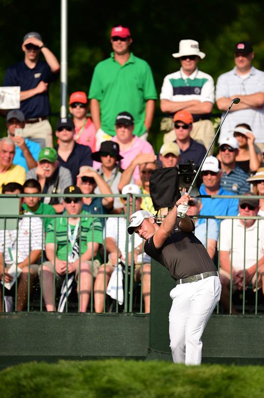 Masters champion Danny Willett tees off on Thursday.