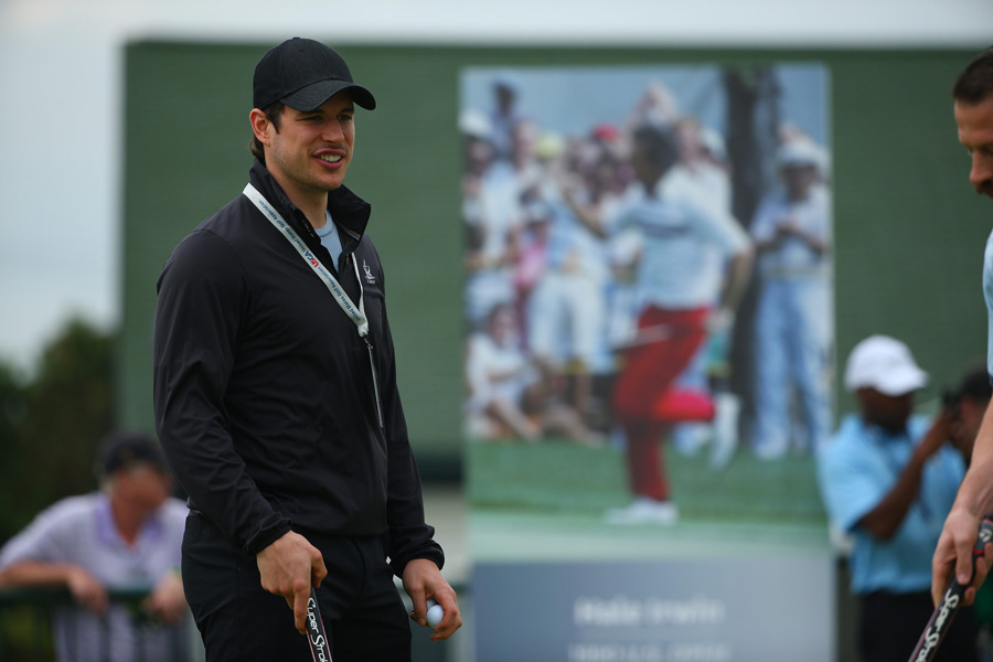 Some of the recently crowned Stanley Cup champion Pittsburgh Penguins were onsite to enjoy the first round, including captain Sidney Crosby.