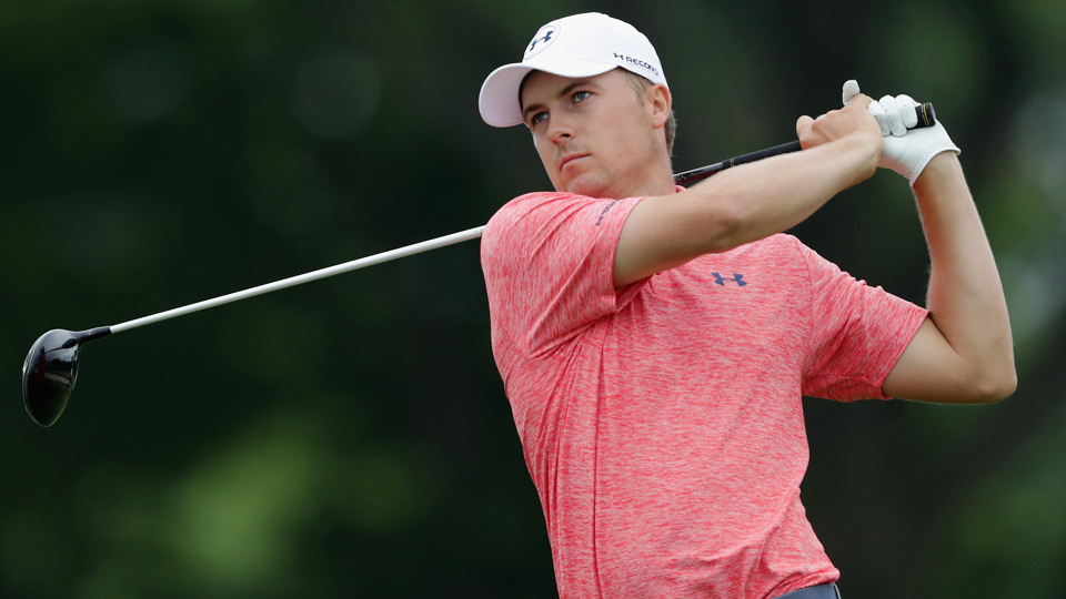 Jordan Spieth completed his first round at Oakmont Friday morning.