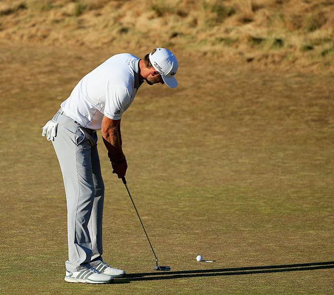 Dustin Johnson had his chances, but he couldn't convert and it led to Jordan Spieth winning his second straight major. Johnson, majorless at the time, had an eagle putt to win on the 72nd hole of the 2015 Open at Chambers Bay, but it didn't fall. Then came the heartbreaker. He missed a short birdie putt coming back, tapped in for par, and lost to Spieth by one.
