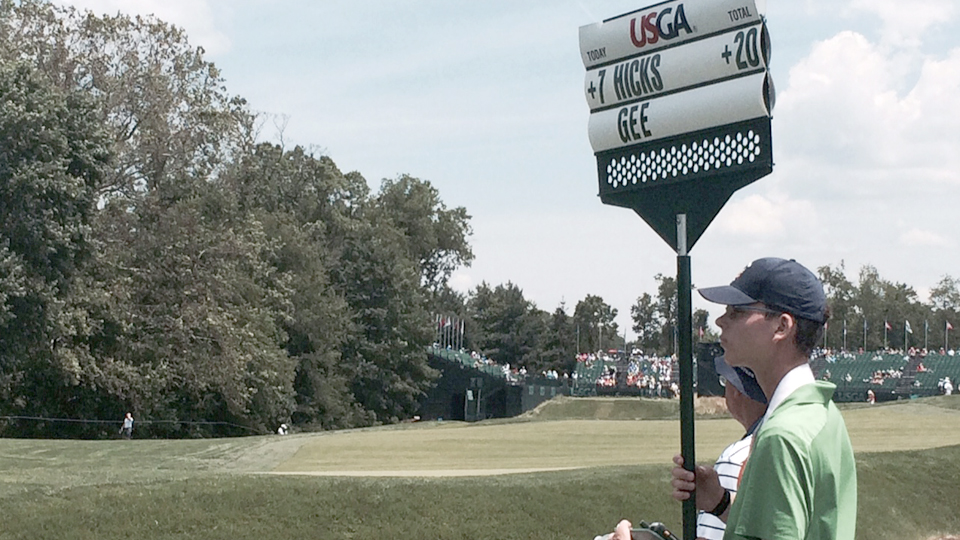 Devin Gee didn't have an official score on Sunday, but he still got to play in a U.S. Open.