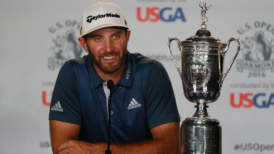 Shrugging off rules officials, Dustin Johnson broke through in a major way.