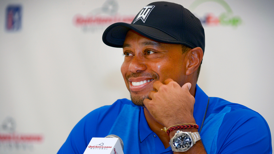 Tiger Woods offered little specifics Wednesday at Congressional Country Club, but insisted he's getting better.