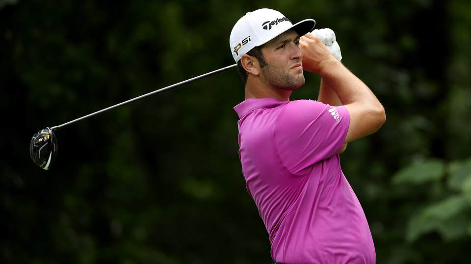 Jon Rahm during the first round of the 2016 Quicken Loans National at Congressional.