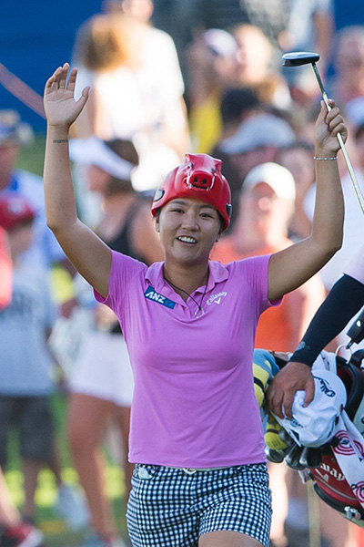 .@LydiaKo Calling the Hogs on No. 17 @NWAChampionship @ArkRazorbacks #WPS #WoooPig #LPGASeeWhy
