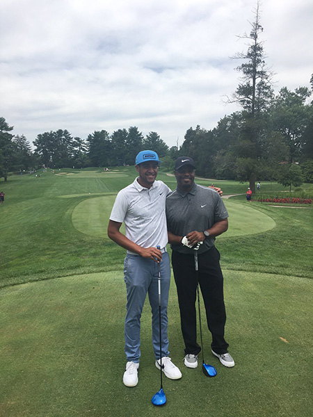 I got to tee it with the one and only Ken Griffey Jr today! I had a blast. He's a solid golfer. #bomber #HOF