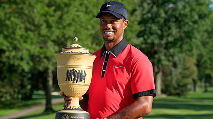 Tiger won the 2013 WGC-Bridgestone by 7 shots for an astonishing eighth win at Firestone Country Club.