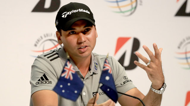 ason Day of Australia speaks to the media regarding his withdrawal from the Olympic games in Brazil during a press conference for the World Golf Championships-Bridgestone Invitational at Firestone Country Club South Course on June 28, 2016 in Akron, Ohio.