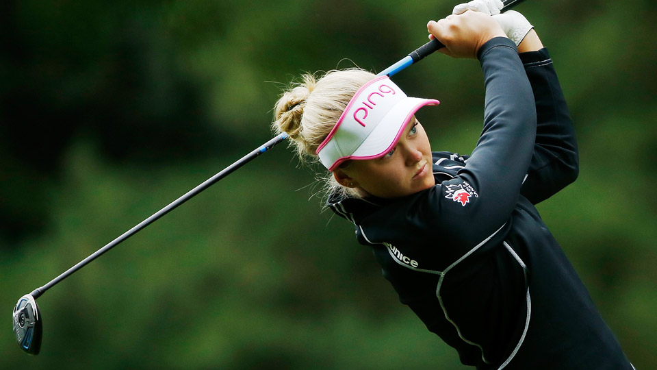 Brooke Henderson is 11 under through two rounds at the Portland Classic.