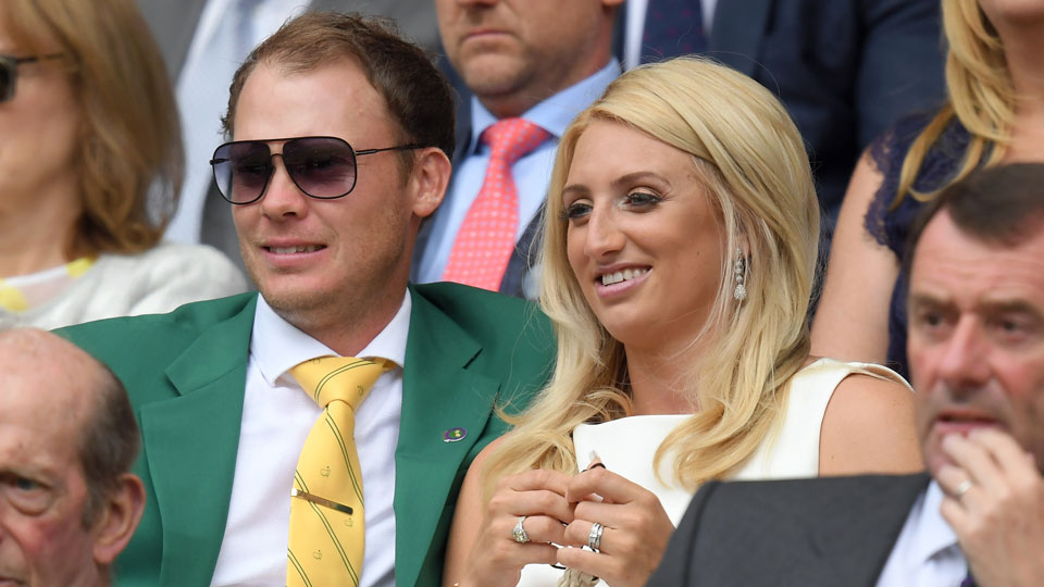Danny Willett and his wife Nicole attended the eighth day of the Wimbledon Tennis Championships on Monday.