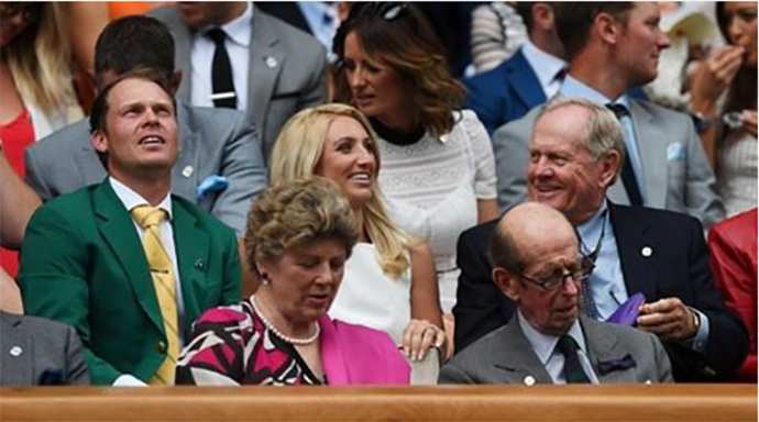 Enjoying Wimbledon today with Barbara and our friends including 2016 Masters champion Danny Willett in his Green Jacket. Our business travels often bring us to other corners of the world but we are always so proud to be Americans. Wishing everyone a happy and safe 4th of July.