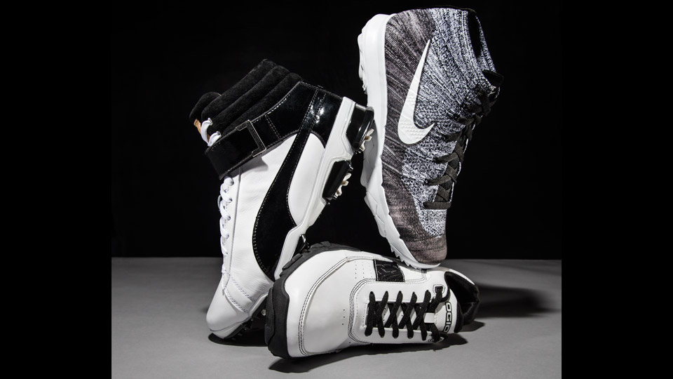 Left: PUMA IGNITE HI-TOP SE; Right: NIKE FLYKNIT CHUKKA; Center: OGIO CITY TURF