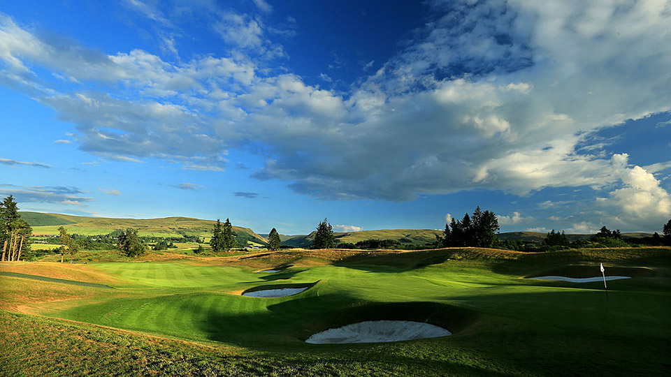At the 2014 Ryder Cup, it was this quiet for Team USA on Gleneagles' 18th.