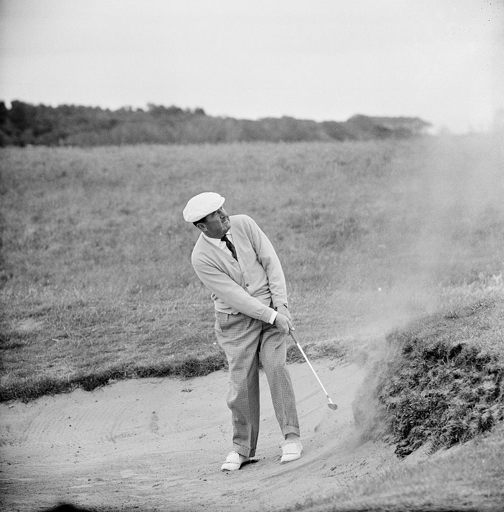 Bobby Locke from South Africa defended his title in 1950 at Troon (here pictured at Troon again in 1962).