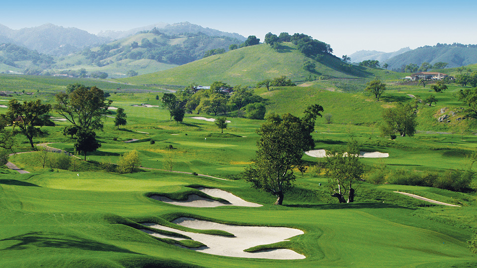 The 17th hole at CordeValle in San Martin, California.