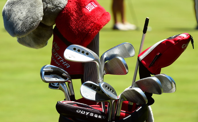 Swede Camilla Lennarth is playing Callaway Apex irons, Callaway MD3 wedges and an Odyssey putter.