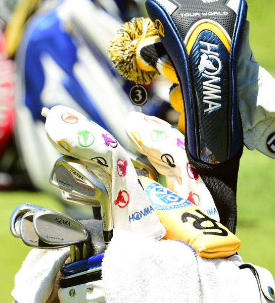 South Korean So Yeon Ryu carries a full bag of Honma gear including Tour World irons and wedges.