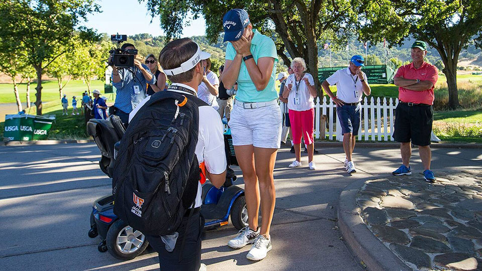 Kasey Petty missed the cut at the U.S. Women's Open, but then was proposed to.